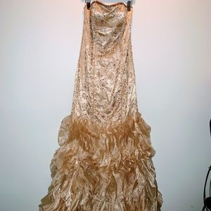 🌺🌺STUNNING🌺ASPEED LONG,HAND BEADED GOWN🌺XS🌺🌺